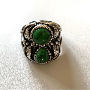 TURQUOISE RING 6 NATIVE AMERICAN STYLE VTG STYLE